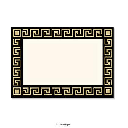 Delphi Black Invitation - Blank