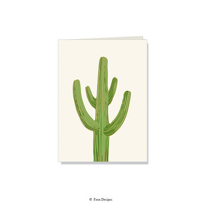 Cactus Folded Note