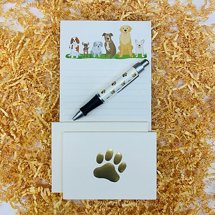 Dogs Memo Pad & Folded Note Set