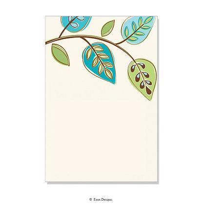 Arboretum Blue, Green, Brown Invitation - Blank