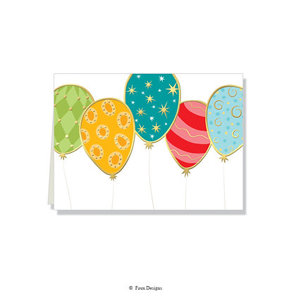 Balloons Folded Note