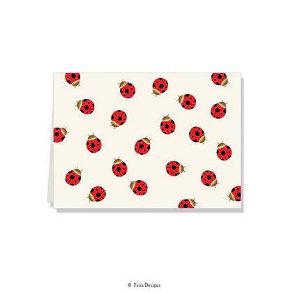 Ladybug Folded Note