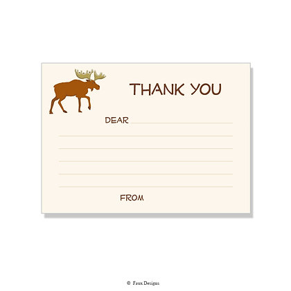 Moose Fill-in Thank You Note