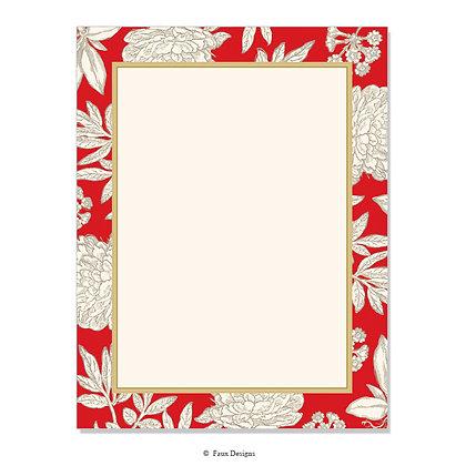 Audrey Crimson 8.5 x 11 Sheet