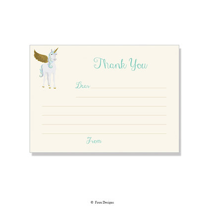 Unicorn Fill-in Thank You Note