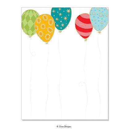 Balloons 8.5 x 11 Sheet