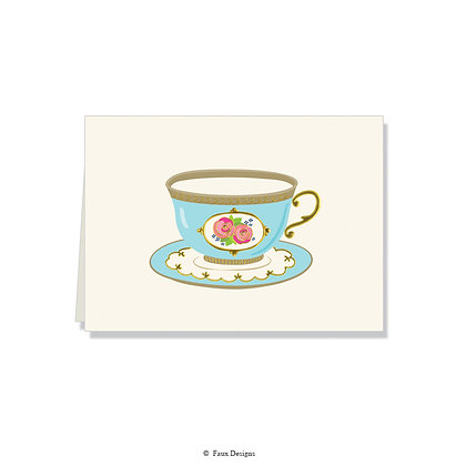 Teacup Folded Note