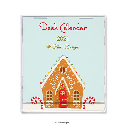 2021 Desk Calendar Gingerbread House