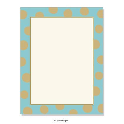 Felicity Aqua Blue 8.5 x 11 Sheet