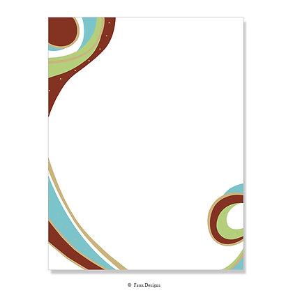 Serendipity Blue, Lime 8.5 x 11 Sheet