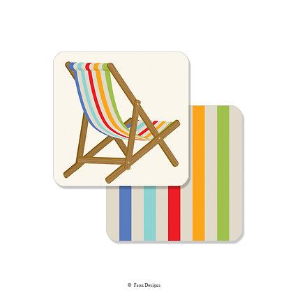 Beach Chair Multi Coaster