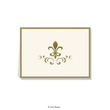 Fleur-de-lis with Border Folded Note