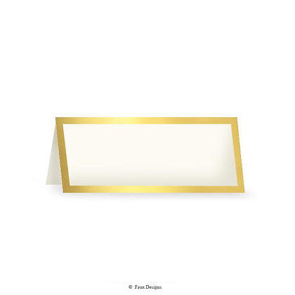 Classic Borders Gold on Vellum Placecard
