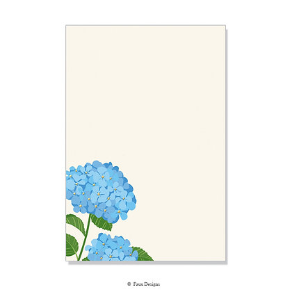 Hydrangea Invitation - Blank