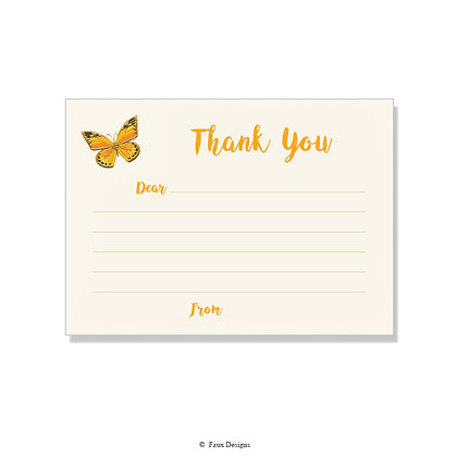 Butterfly Fill-in Thank You Note