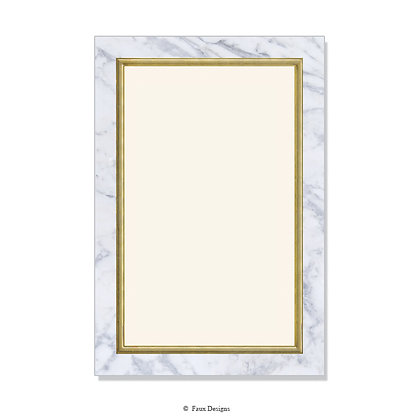 Villa Carrara Marble Invitation - Blank
