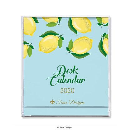 2020 Desk Calendar Lemons
