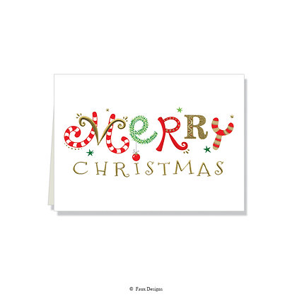 Merry Christmas Folded Note