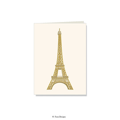 Eiffel Tower Folded Note
