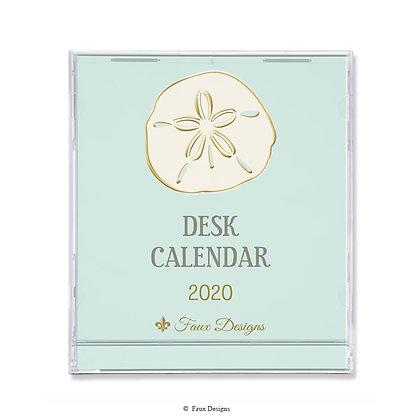2020 Desk Calendar Sand Dollar