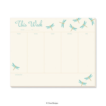 Dragonfly Weekly Pad