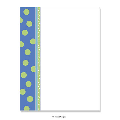 Dolly Periwinkle, Lime 8.5 x 11 Sheet