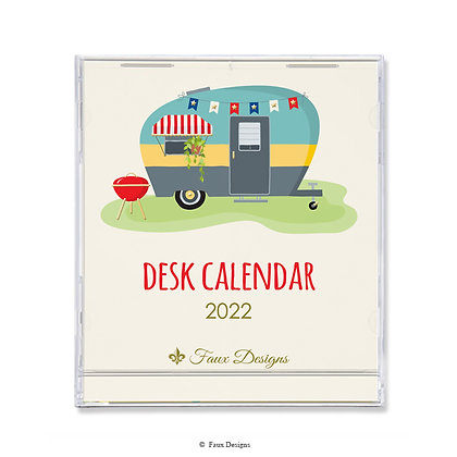 2022 Desk Calendar Happy Camper