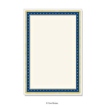 Tempo Blue, Gold Invitation - Blank