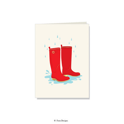 Wellies Folded Note