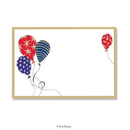 Multicolored Balloons Invitation - Blank