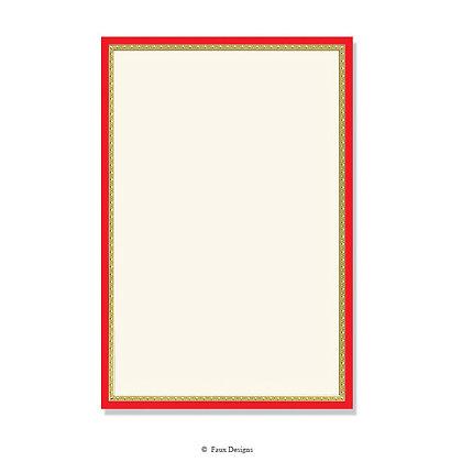 Galileo Red Invitation - Blank