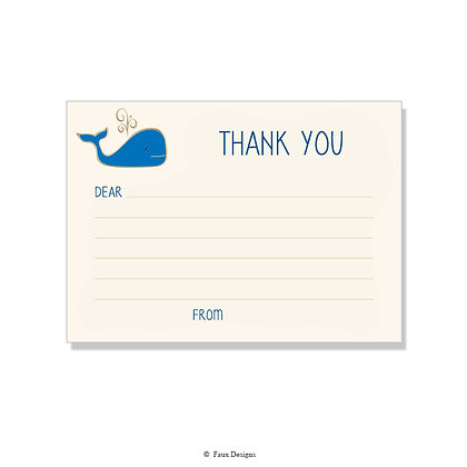 Whale Fill-in Thank You Note