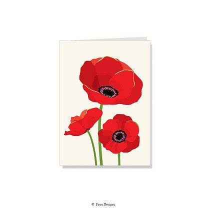 Poppies Folded Note