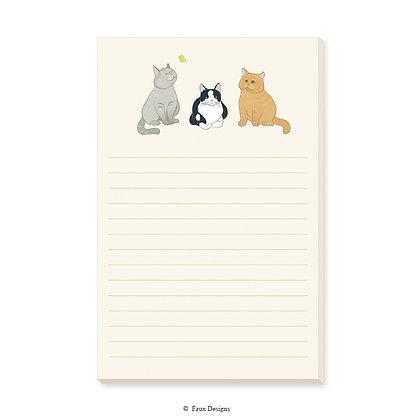 Cats Memo Pad