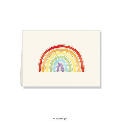 Rainbow Folded Note