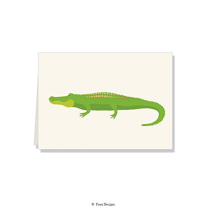 Alligator Folded Note