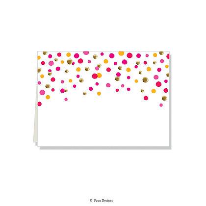 Confetti Pink, Orange Folded Note