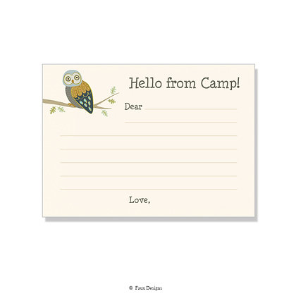 Owl Fill-in Camp Note
