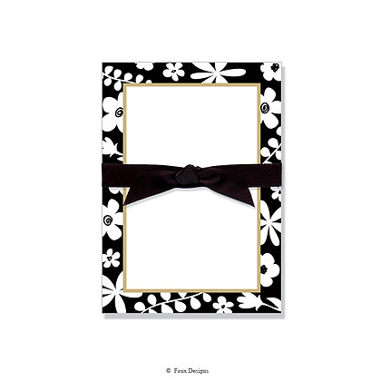 Black & White Floral Gift Pad