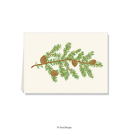Pine Bough Folded Note