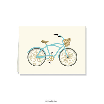 Bicycle Folded Note