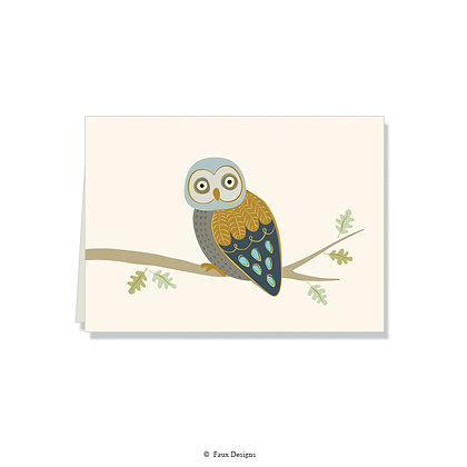 Owl Folded Note