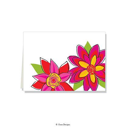Flora Folded Note