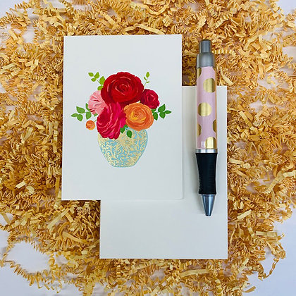 Bouquet Folded Note & Pen Set