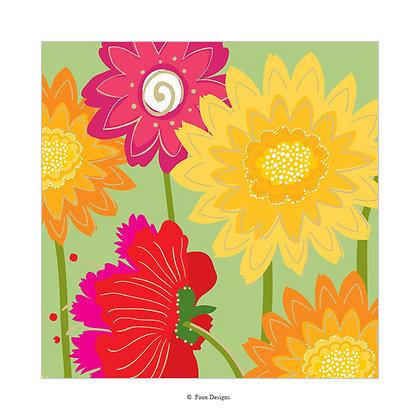 Flower Garden Gift Wrap