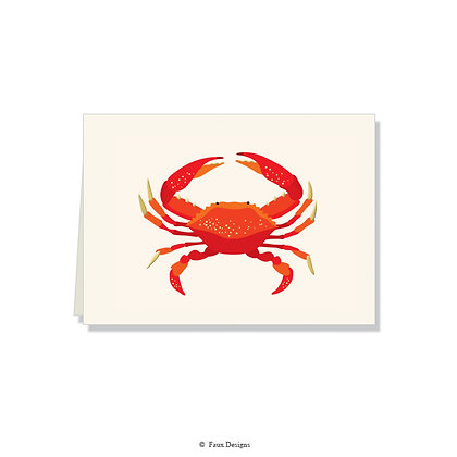 Red Crab Folded Note