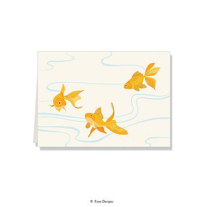 Goldfish Folded Note