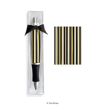 Black & Gold Stripe Pen