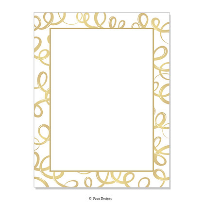 Champagne White & Gold 8.5 x 11 Sheet