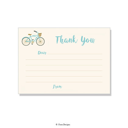 Bicycle Fill-in Thank You Note